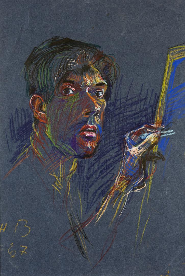 Abstraktes Selbstportrait von Hans Bucher