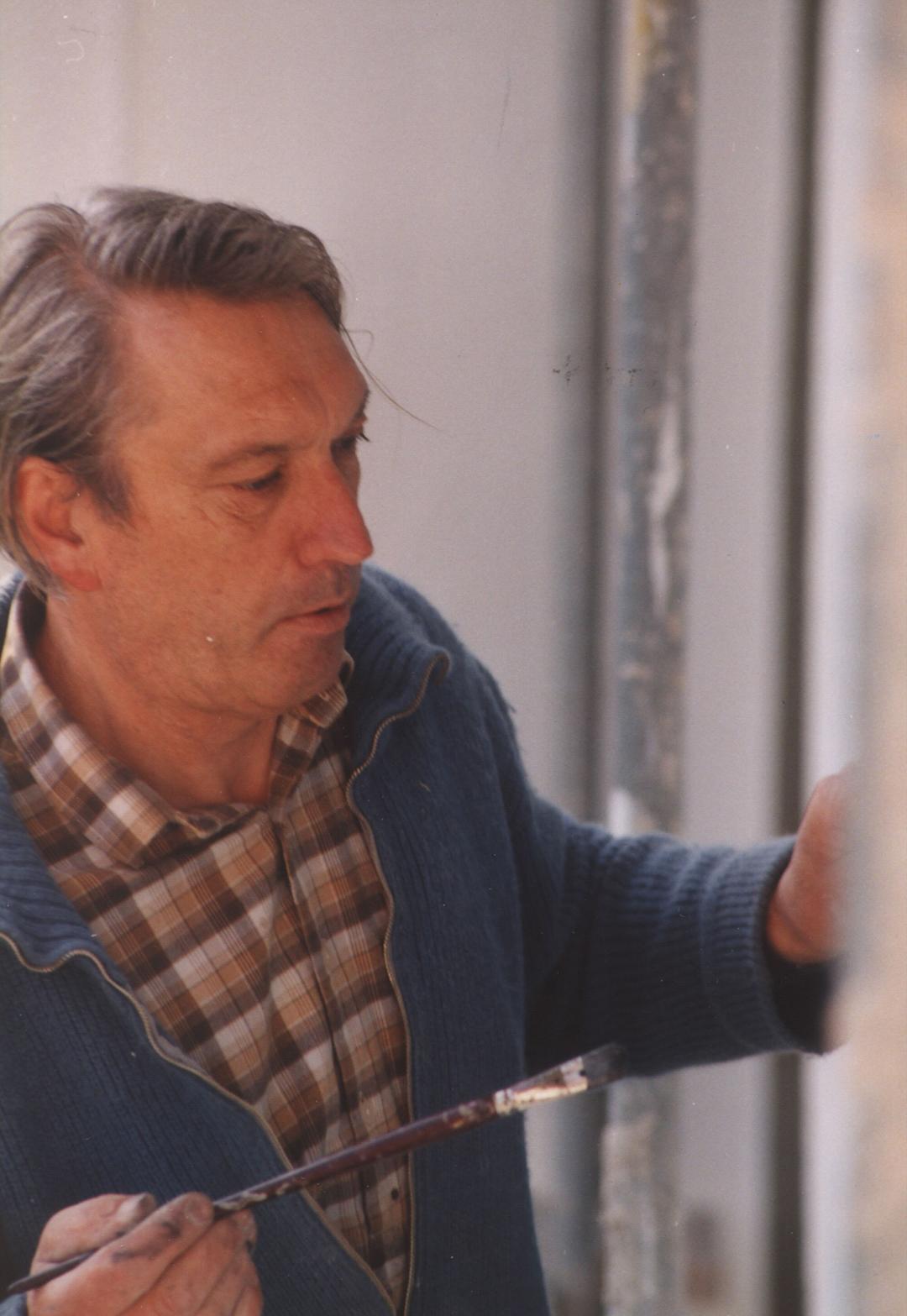 Hans Bucher malt