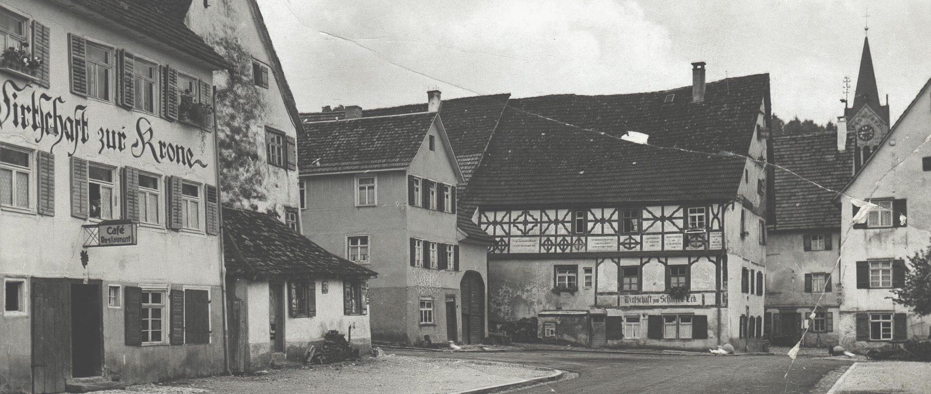 Historische Aufnahme des Scharf Eck