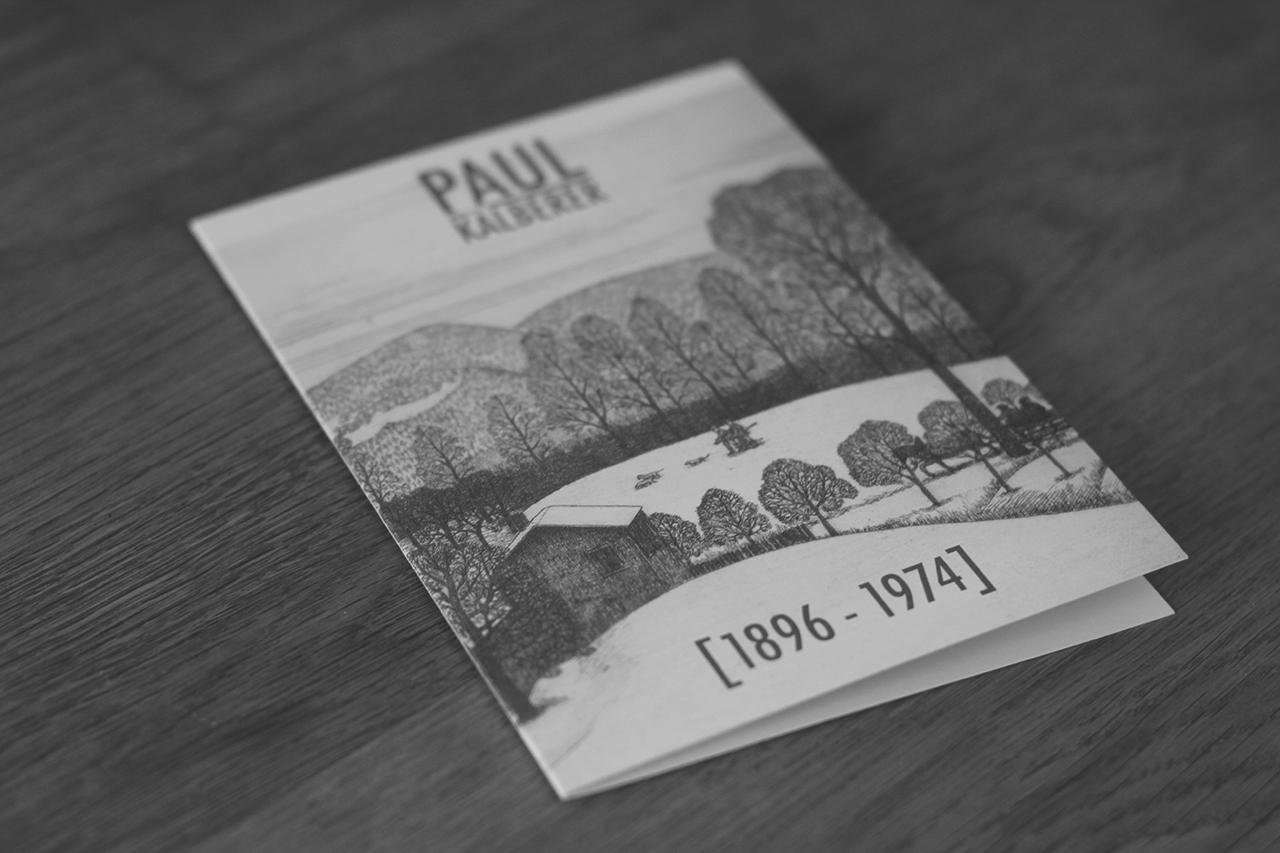 Paul Kälberer Ausstellung Broschüre