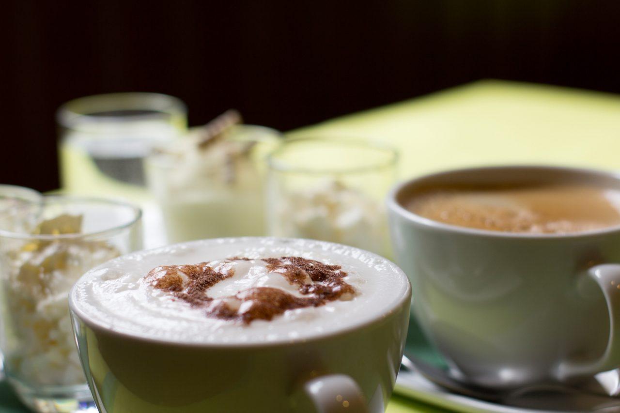Kaffee und Kuchen im Gasthaus Scharf Eck