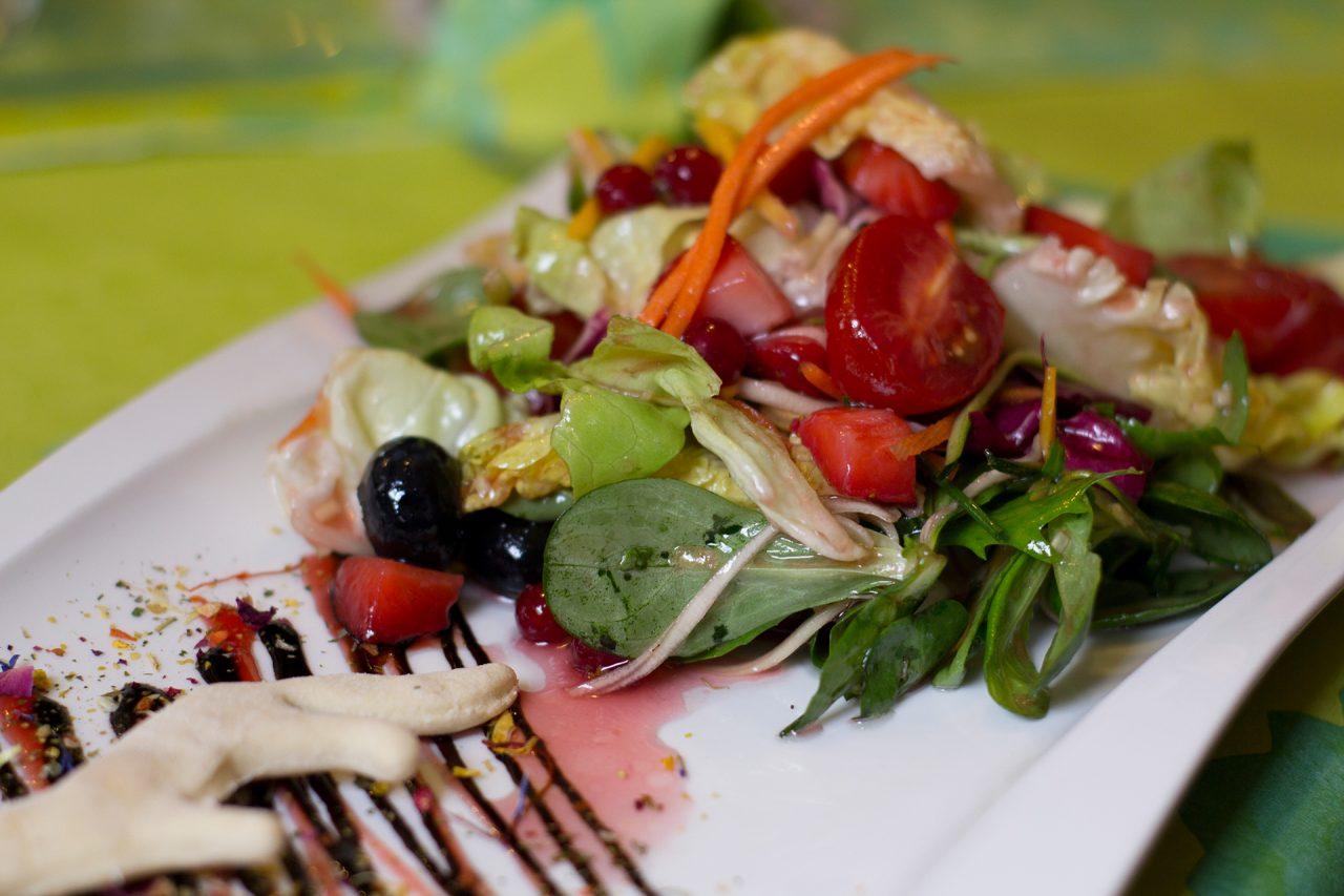Leckeres Salatangebot im Gasthaus Scharf Eck